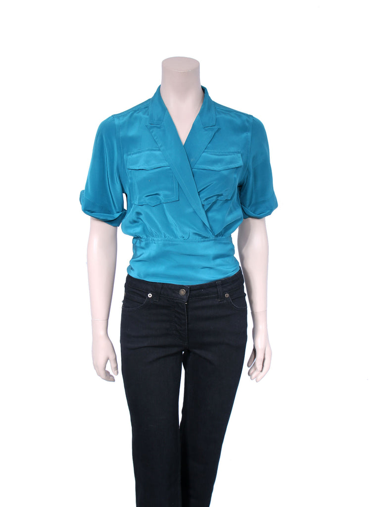 Marc by Marc Jacobs Silk Wrap Top