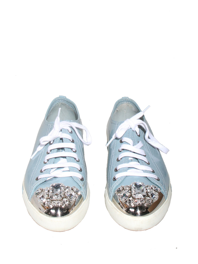 Patent Embellished Sneakers