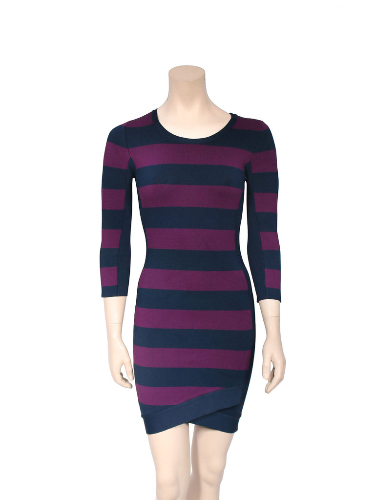 BCBG MaxAzria Kendall Stripe Dress