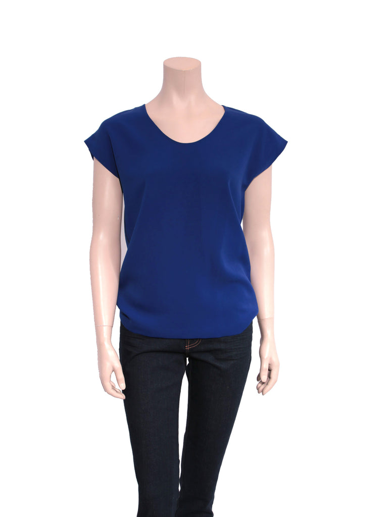 DVF Short Sleeve Scoop Neck Top