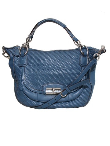 Coach Woven Leather Bag