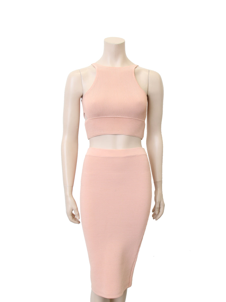 Jonathan Simkhai Textured Stretch-Knit Crop Top
