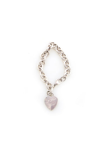 Tiffany & Co. I Love You Heart Tag Charm Bracelet