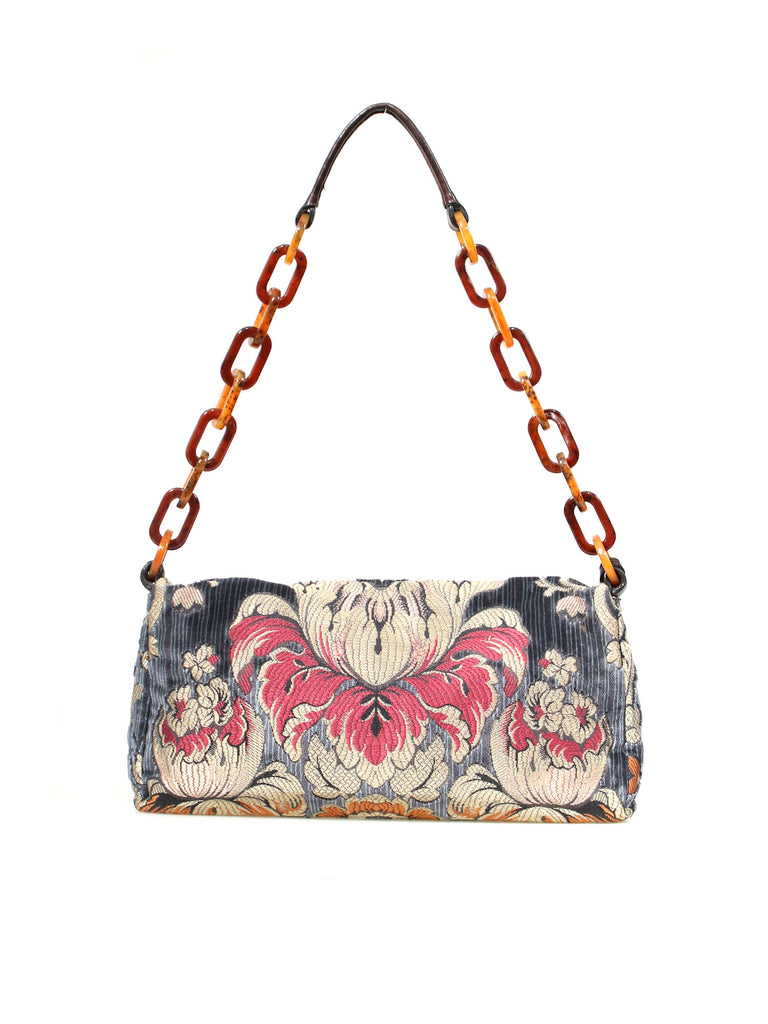 Miu Miu Velvet Brocade Shoulder Bag