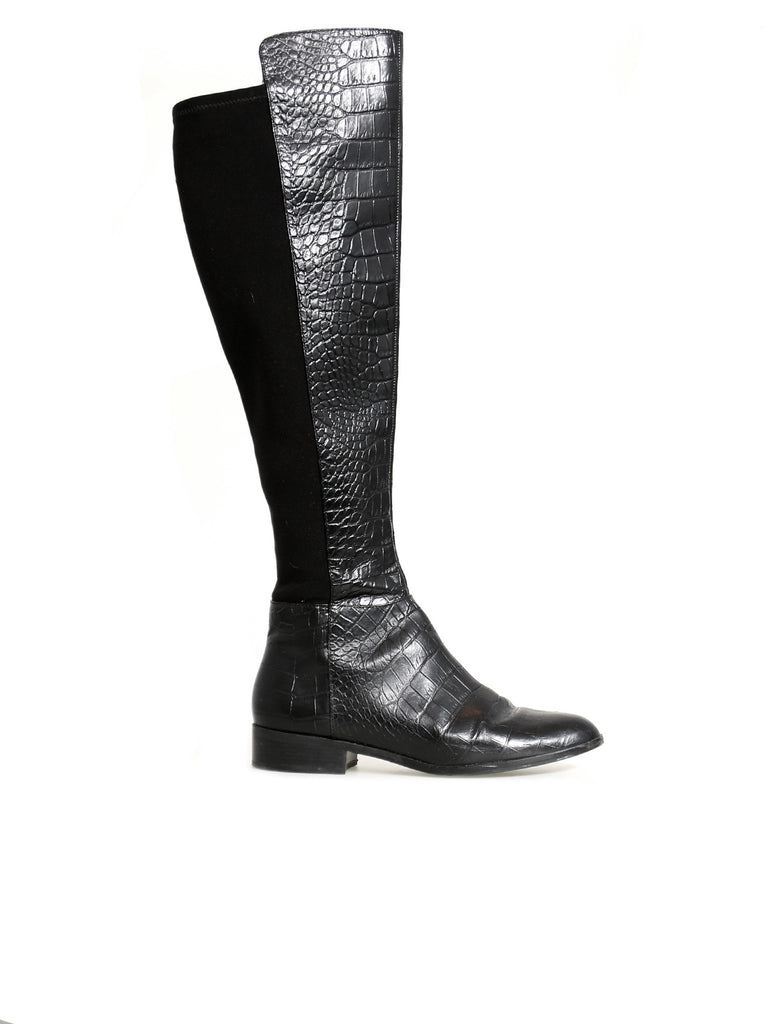 Michael Kors Embossed Bromley Flat Boot