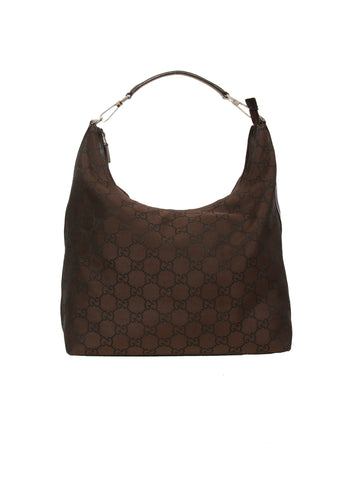 Gucci GG Nylon Hobo Bag