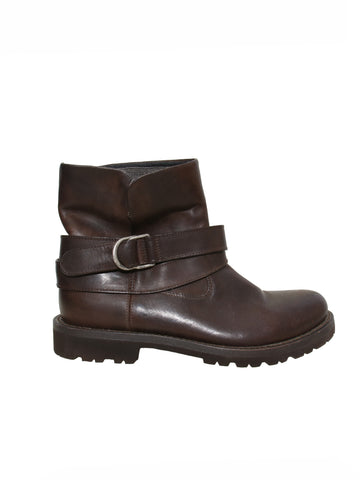 Brunello Cucinelli Monili-Trimmed Leather Boots