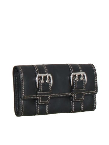 Michael Kors Buckle Leather Wallet