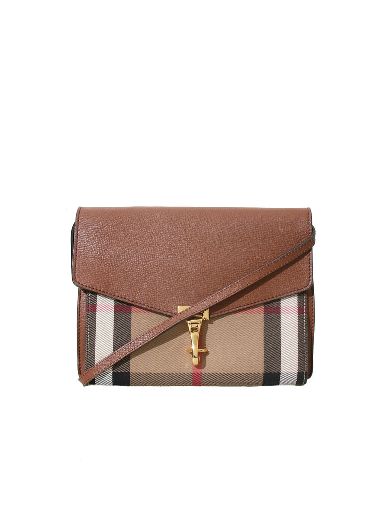 Burberry Leather and House Check Cross Body Bag