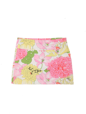 Burberry Floral Mini Cotton Skirt