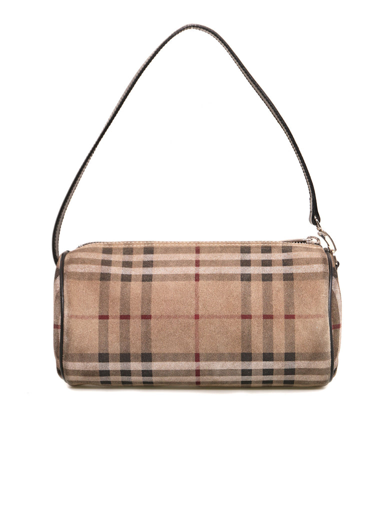Burberry Suede Nova Check Bag