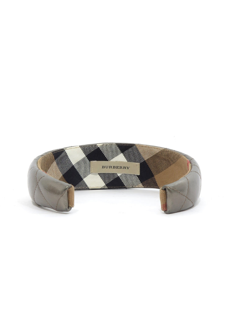 Burberry Quilted Leather Headband