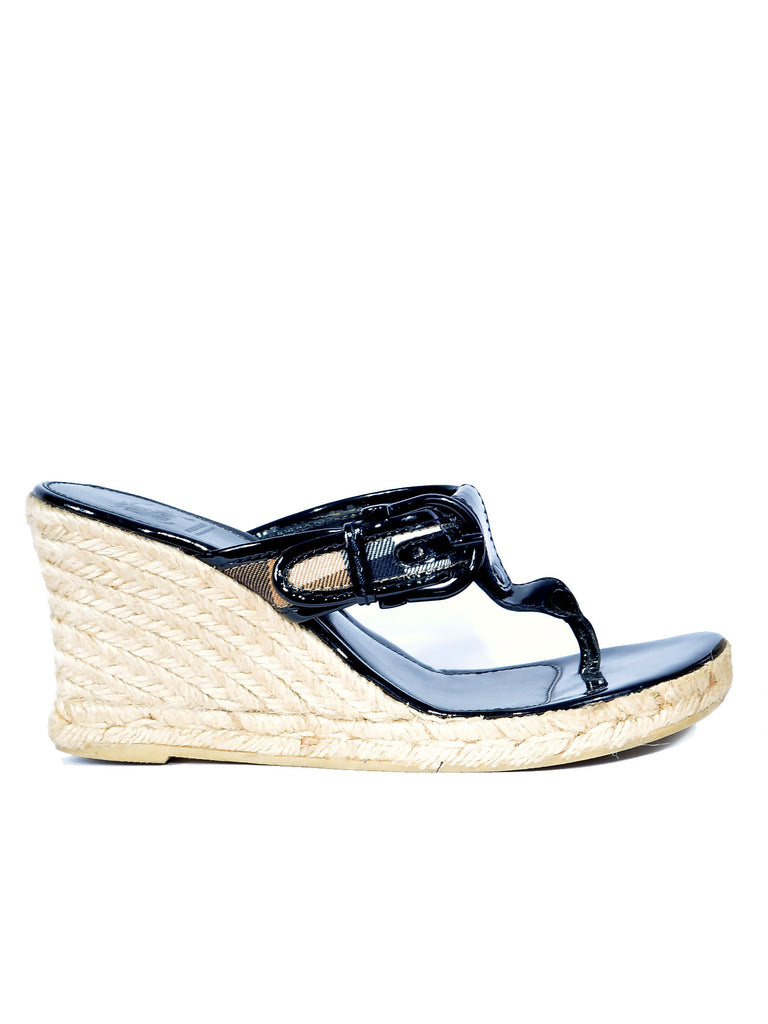 Burberry Espadrille Wedge Sandals