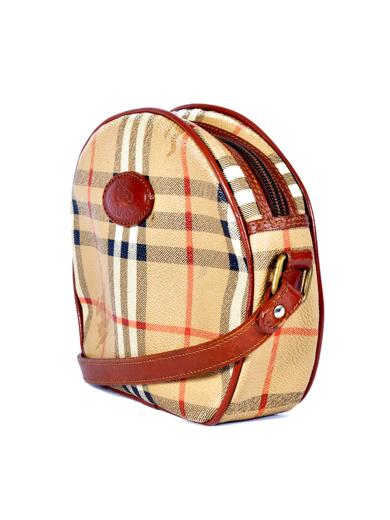 Burberry Vintage Haymarket Check Shoulder Bag
