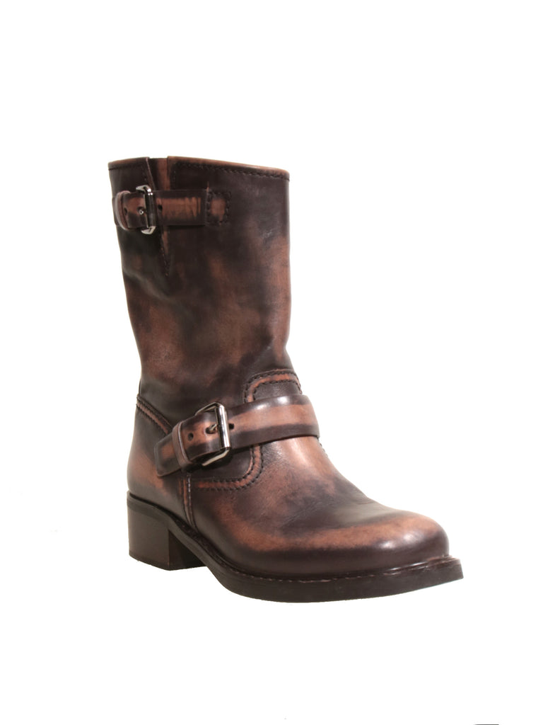 Car Shoe Leather Mid-Calf Boots