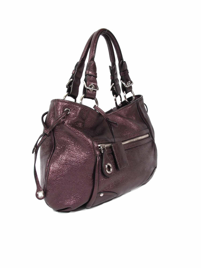 Car Shoe Metallic Leather Shoulder Bag