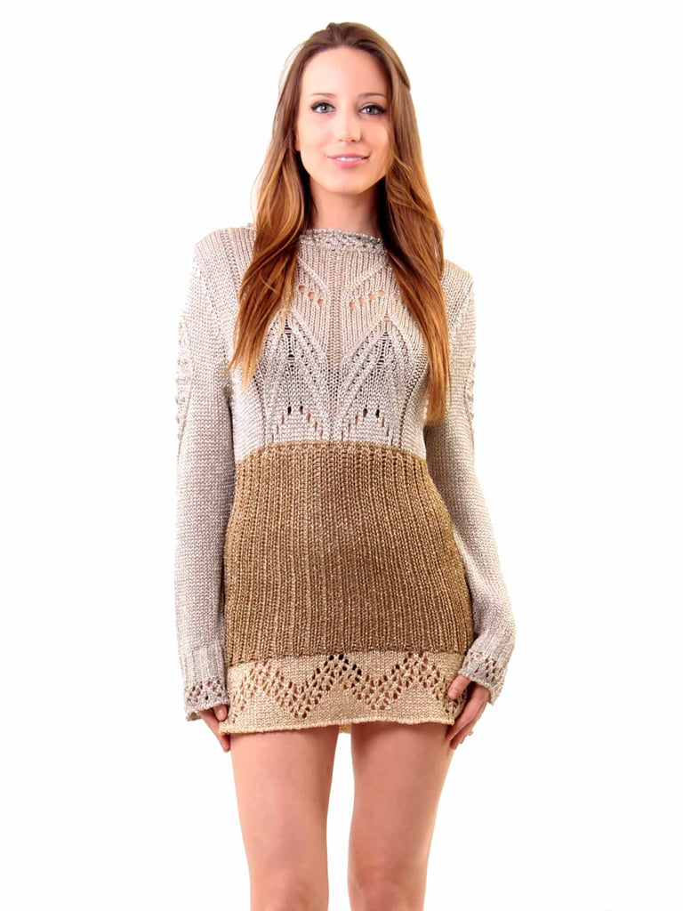 Just Cavalli Metallic Knit Dress
