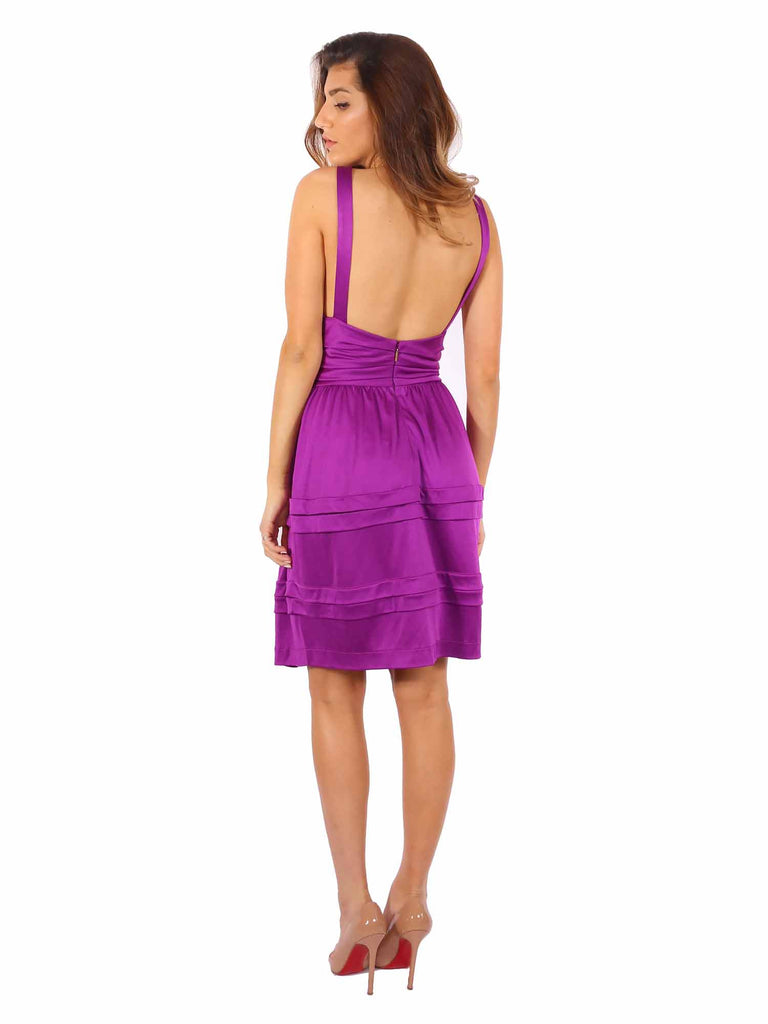 Roberto Cavalli Pleated Backless Dress