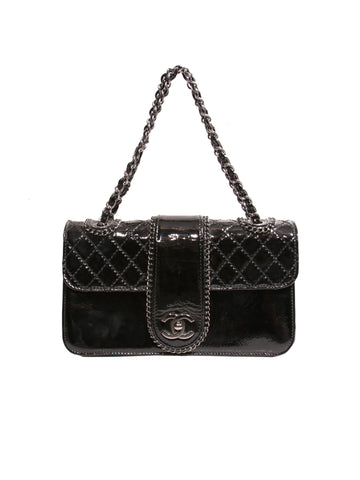 Chanel Patent Leather Madison Flap Bag