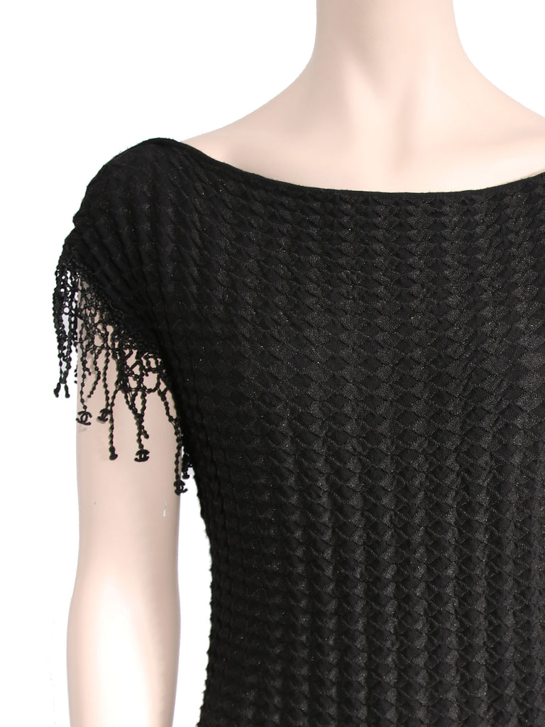 Chanel Knit Fringe Dress