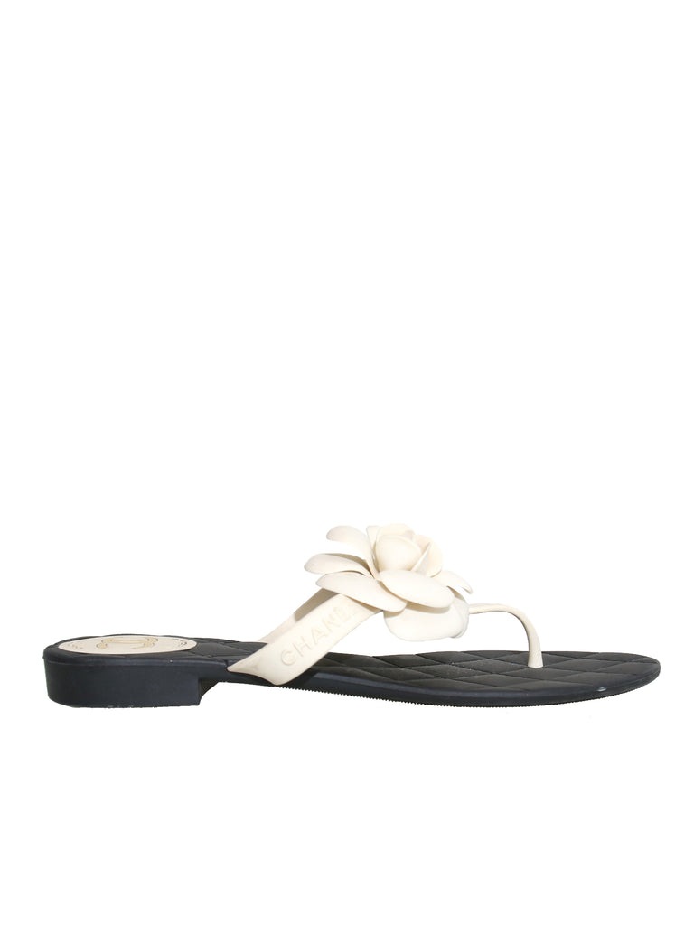 Camellia Rubber Thong Sandals