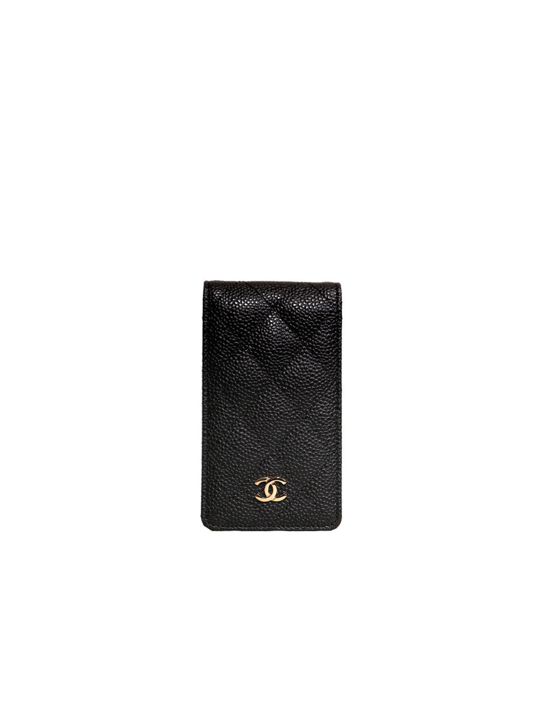 Chanel Quilted Caviar Phone Case