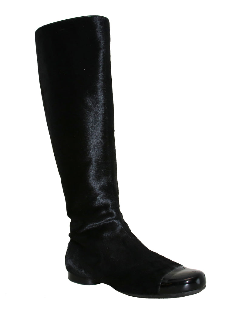 Chanel CC Ponyhair Boots