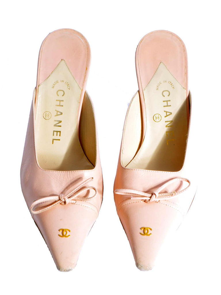 Chanel Slip-In Bow Pumps