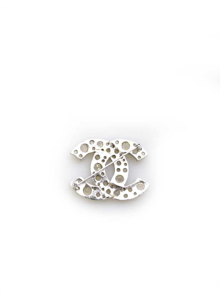 Chanel Embellished CC Logo Brooch