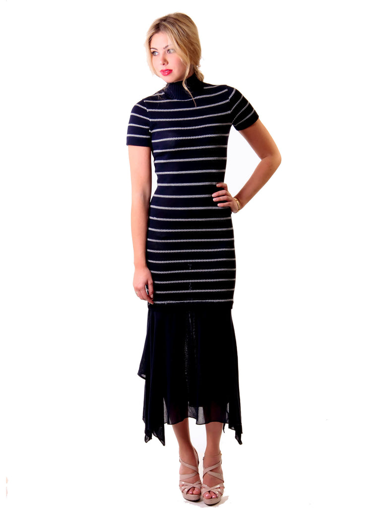 Karl Lagerfeld Stripped Knit Dress