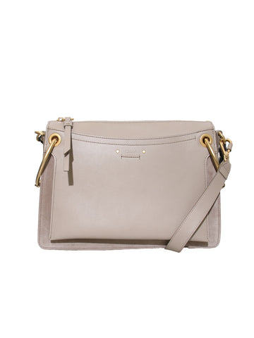 Chloe Roy Leather and Suede Shoulder Bag