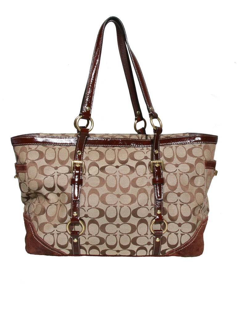 Coach Monogram Canvas Tote Bag