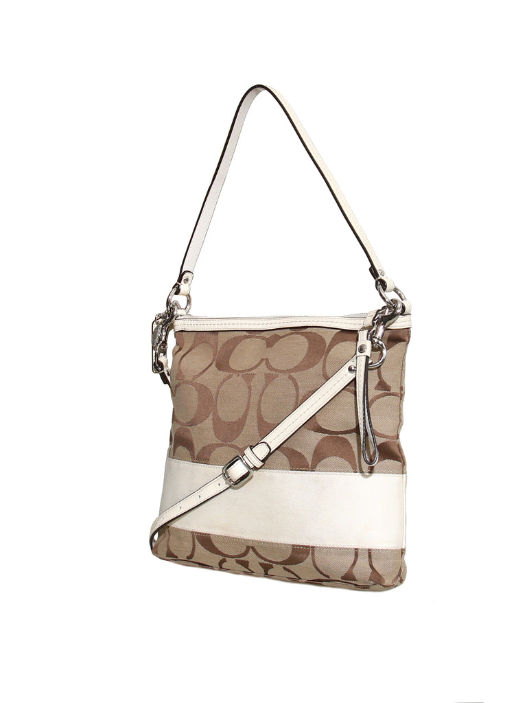 Coach Monogram Canvas Cross Body Bag