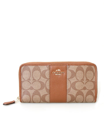 Coach Monogram Zip Around Wallet