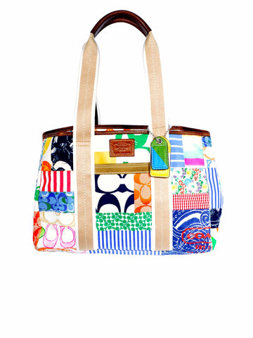 Coach Canvas Collage Tote Bag