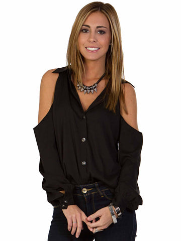 Staple Cold Shoulder Blouse
