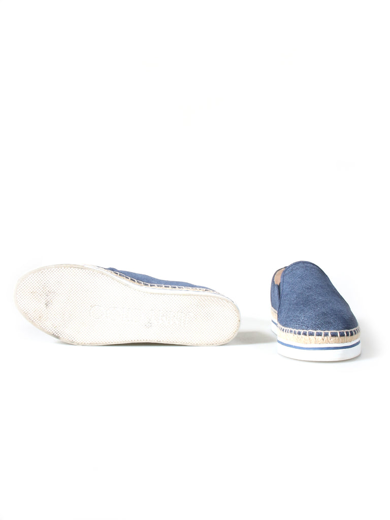 Jimmy Choo Denim Leather Dawn Espadrilles