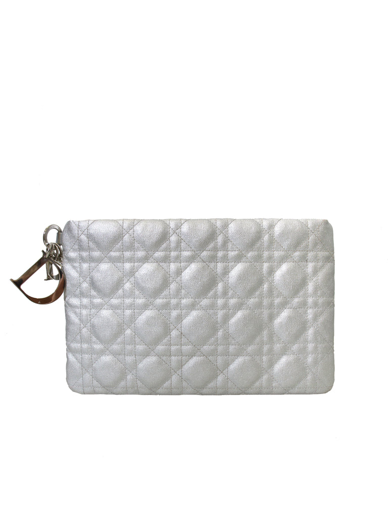 Christian Dior Cannage Coated Canvas Clutch Bag