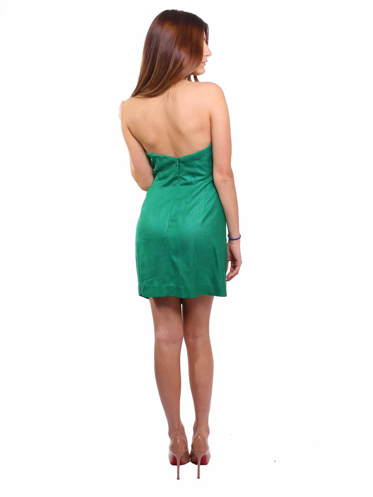 BCBG MaxAzria Runway Strapless Draped Dress