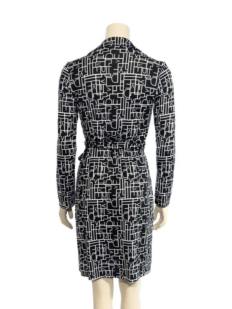 Diane von Furstenberg New Jeanne Silk Jersey Wrap Dress