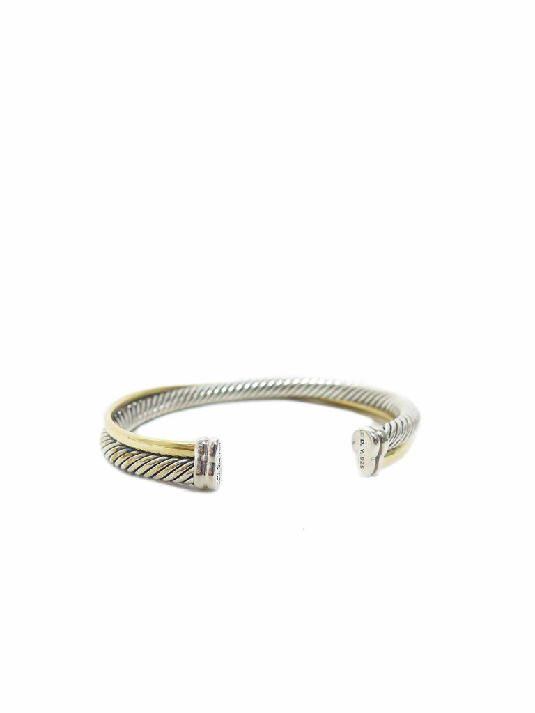 David Yurman Crossover Cuff Bracelet with Gold