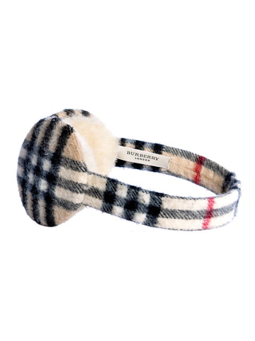 Burberry Haymarket Check Earmuffs