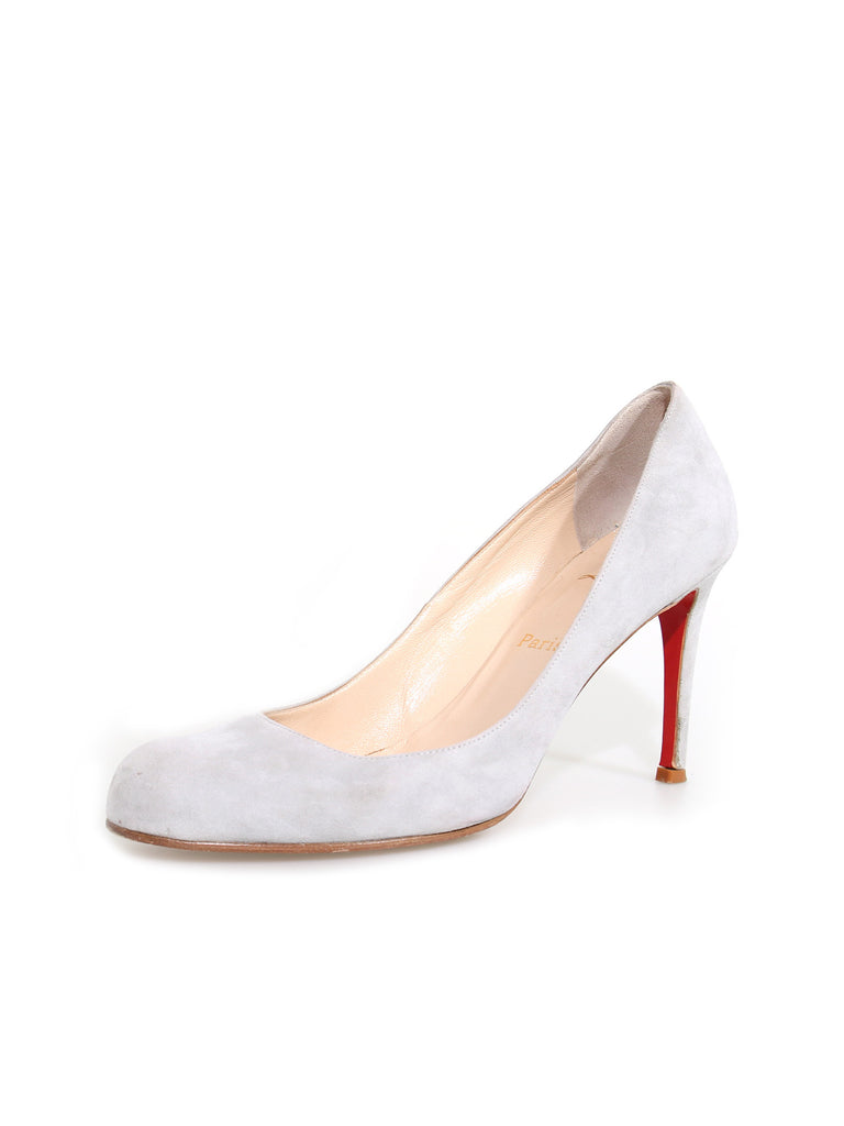 Christian Louboutin Suede Round-Toe Pumps