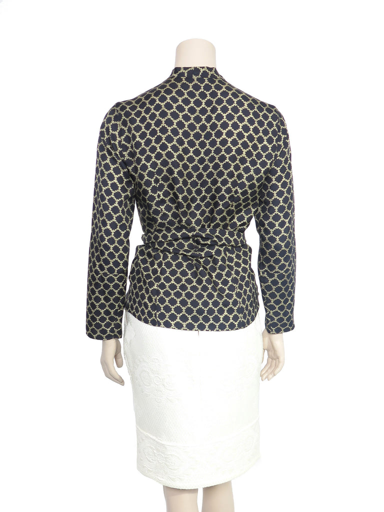 Etro Printed Silk Wrap Blouse