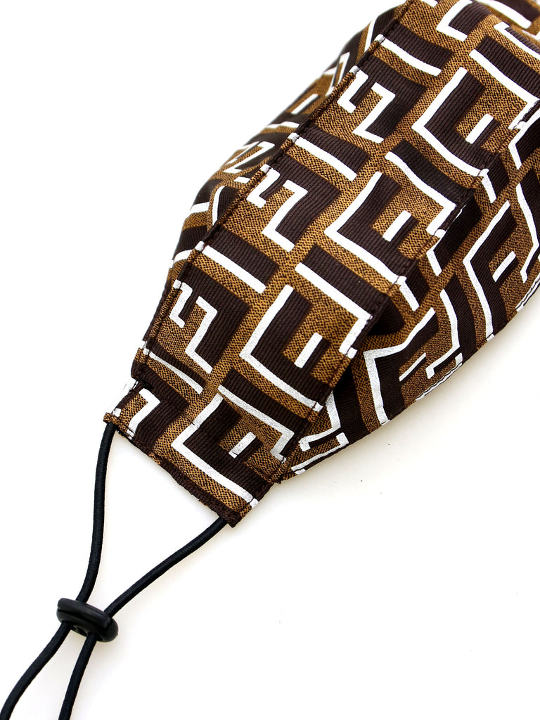 Recycled Fendi Fabric Face Mask