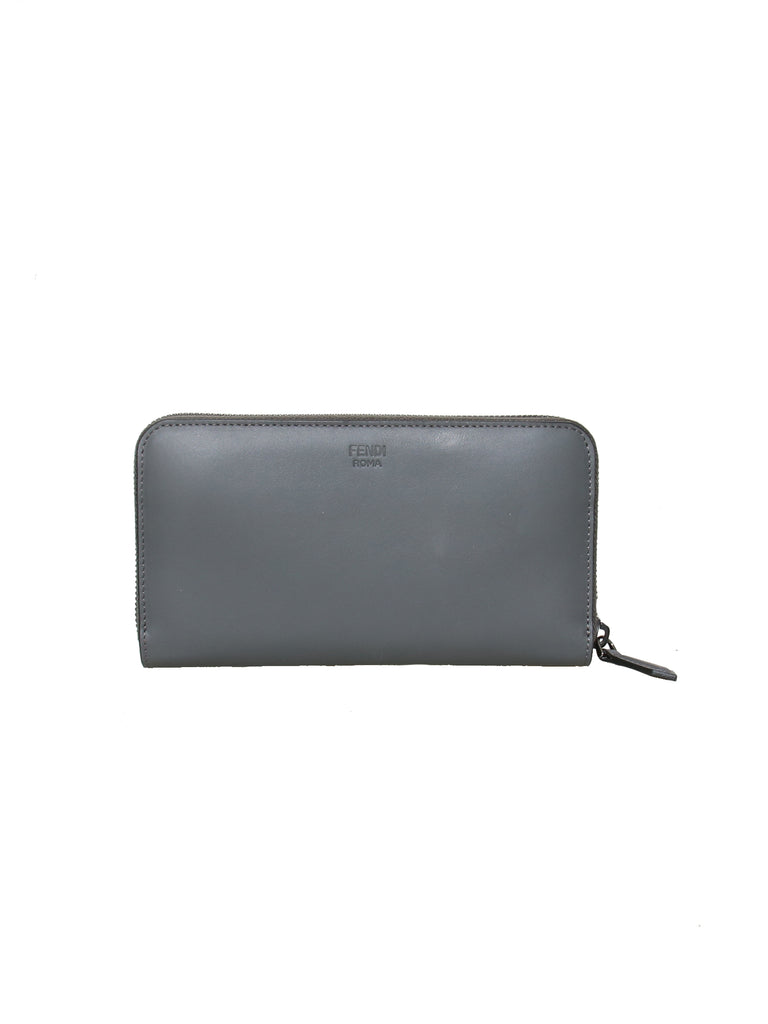 Fendi Bugs Eyes Continental Zip Around Wallet