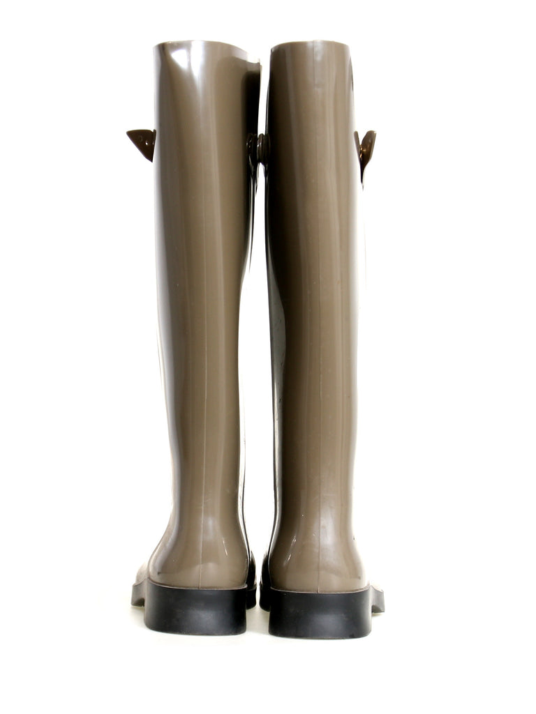 Fendi Berlin Faux Lace-Up Rain Boots