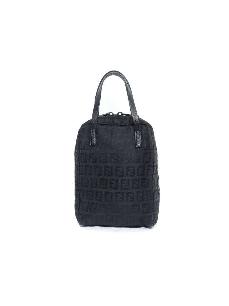 Fendi Zucchino Canvas Evening Bag
