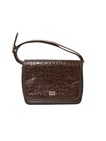 Ferre Vintage Embossed Leather Cross Body Bag