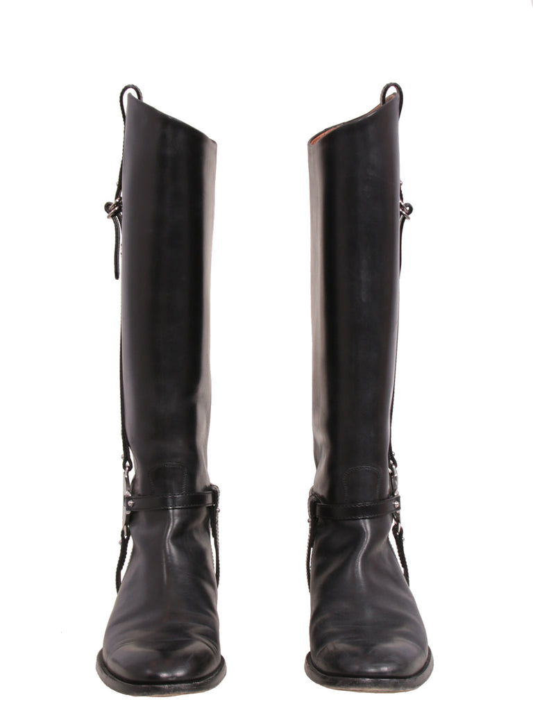 Gucci Leather Riding Boots